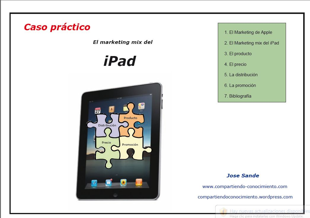 apple ipad marketing mix Marketing mix of apple inc is mentioned below: product wide range of variety exists which do vary with each other on the basis of design, technology, color, specifications and model.
