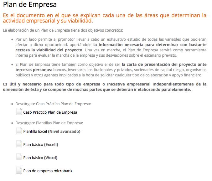 Documentos para elaborar plan de empresa | Compartiendo conocimiento