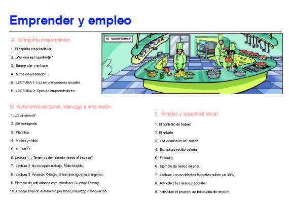 INDICE Emprender y empleo nuevo